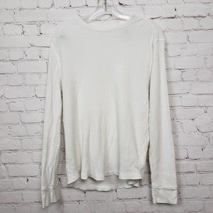 3/$18or5/$25 Gap Waffle Knit Long Sleeve Top White